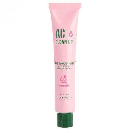 Маска для проблемной кожи лица с розовой глиной Etude house Ac Clean Up Pink Powder Mask, 100мл