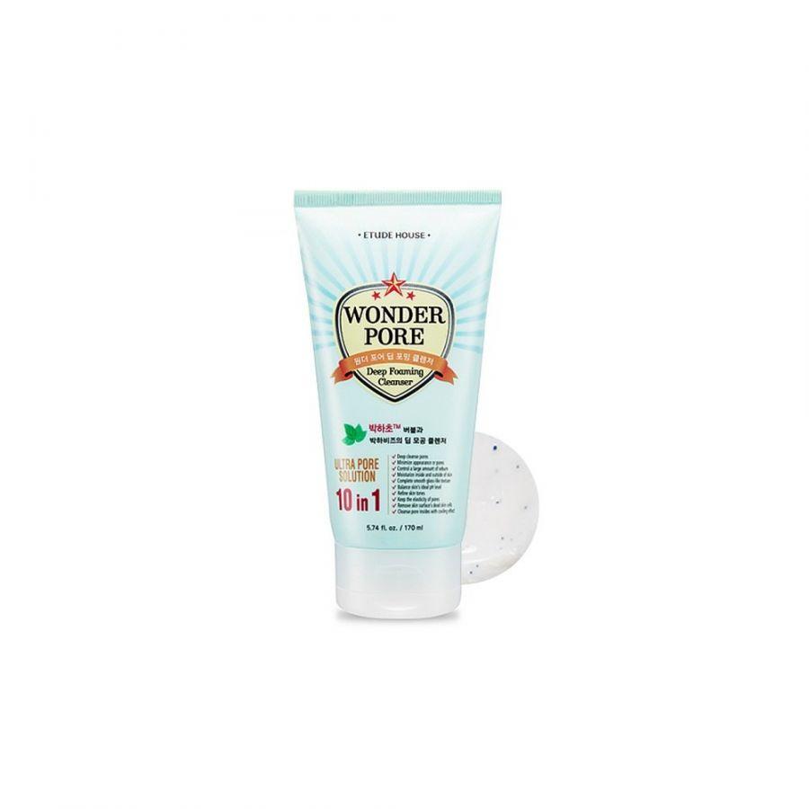 Пенка очищающая для кожи с расширенными порами Etude House Wonder Pore Deep Foaming Cleanser 170 мл