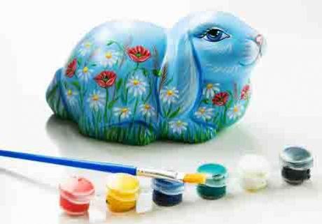 Керамическая фигурка-раскраска Кролик