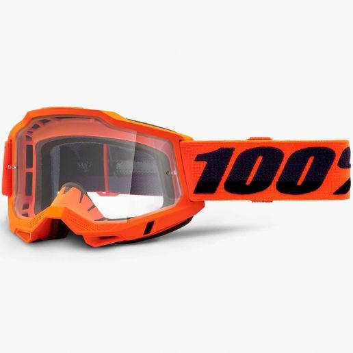 100% Accuri 2 Neon Orange Clear Lens, очки
