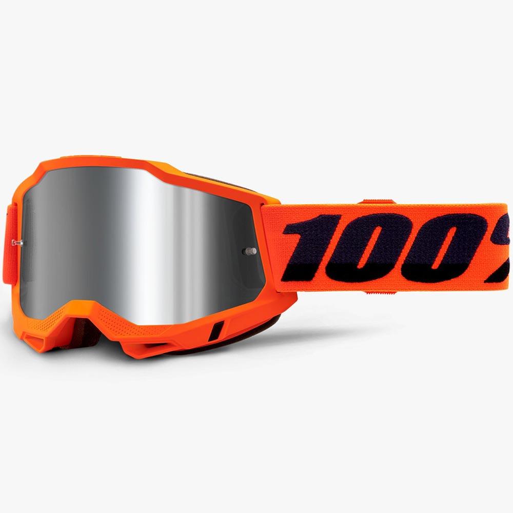 100% Accuri 2 Neon Orange Mirror Silver Lens, очки