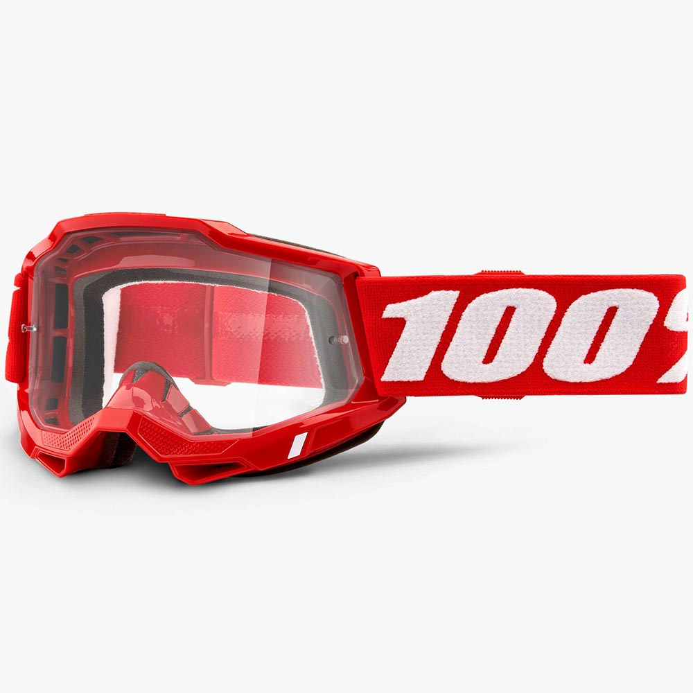 100% Accuri 2 Neon Red Clear Lens, очки