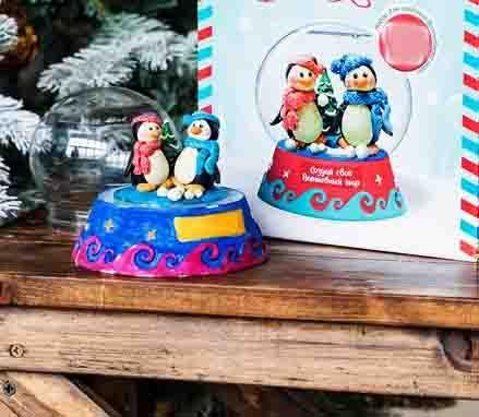 Создай волшебный шар Пингвины