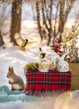 Почтовая открытка Зимние забавы