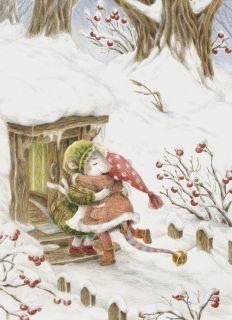 Почтовая открытка Зимние объятия