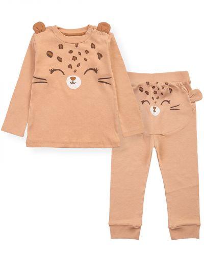 """Костюмчик для новорожденных Bonito kids """"ZOO"""" светло-коричневый"""