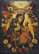 Икона Неувядаемый Цвет икона Божией Матери (копия 18 века)