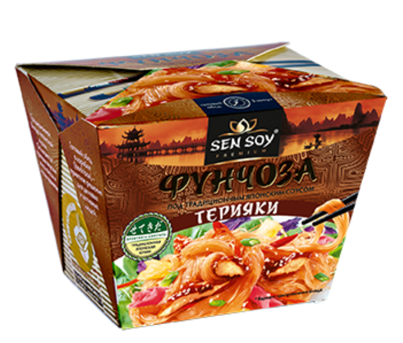 СЭН-СОЙ БЫСТРЫЙ ОБЕД Вермишель «Фунчоза» под японским соусом Терияки 125 Г