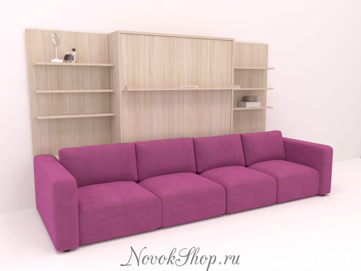 Шкаф-диван-кровать с 2-мя полками