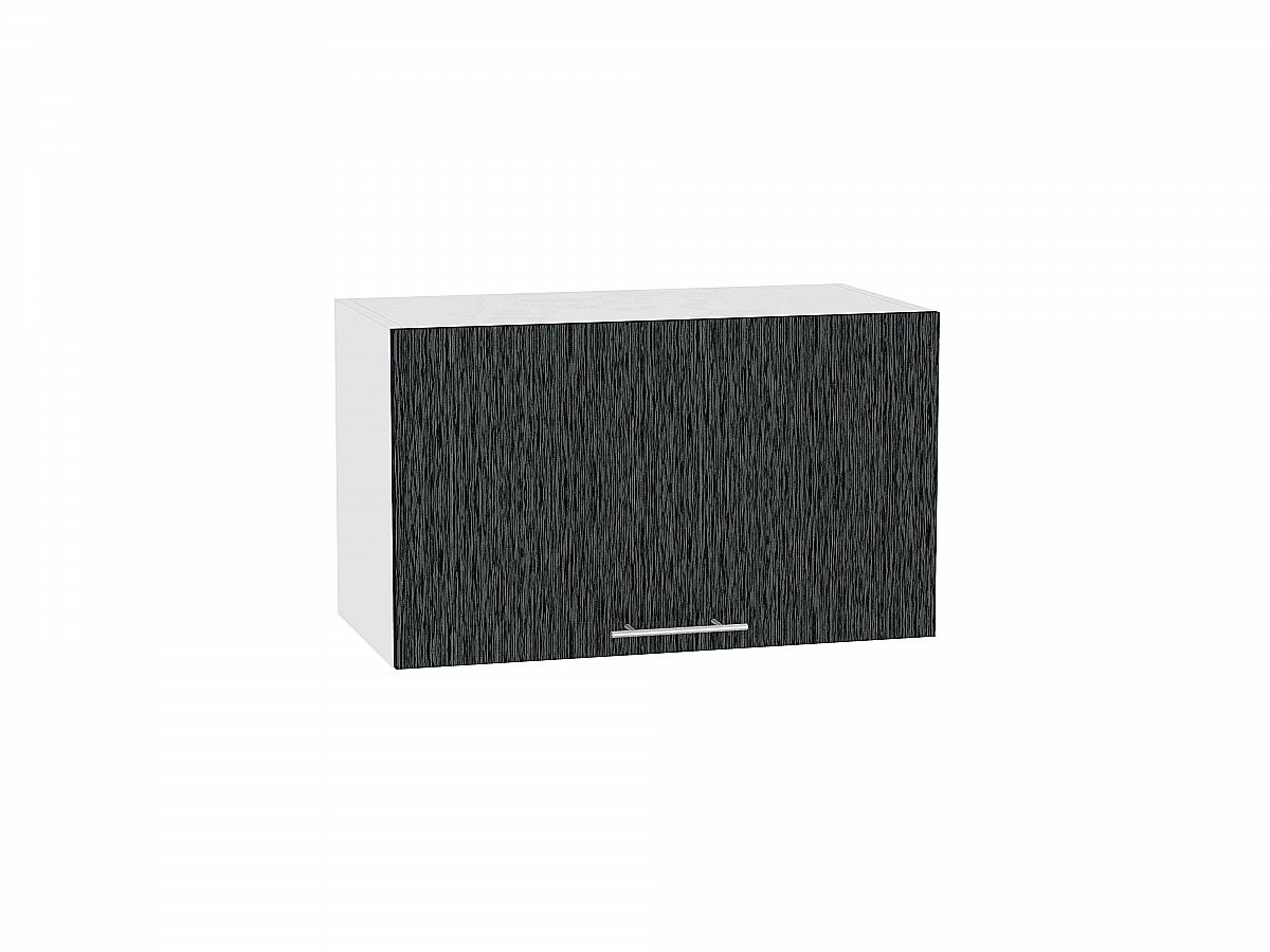 Шкаф верхний Валерия ВГ600 (чёрный металлик дождь)