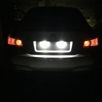 Подсветка заднего номера BMW