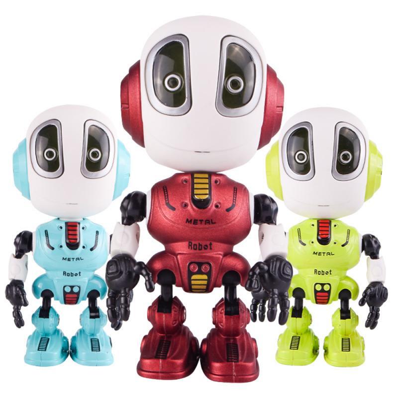 Интерактивная игрушка Metal Robot говорящий робот / держатель для телефона