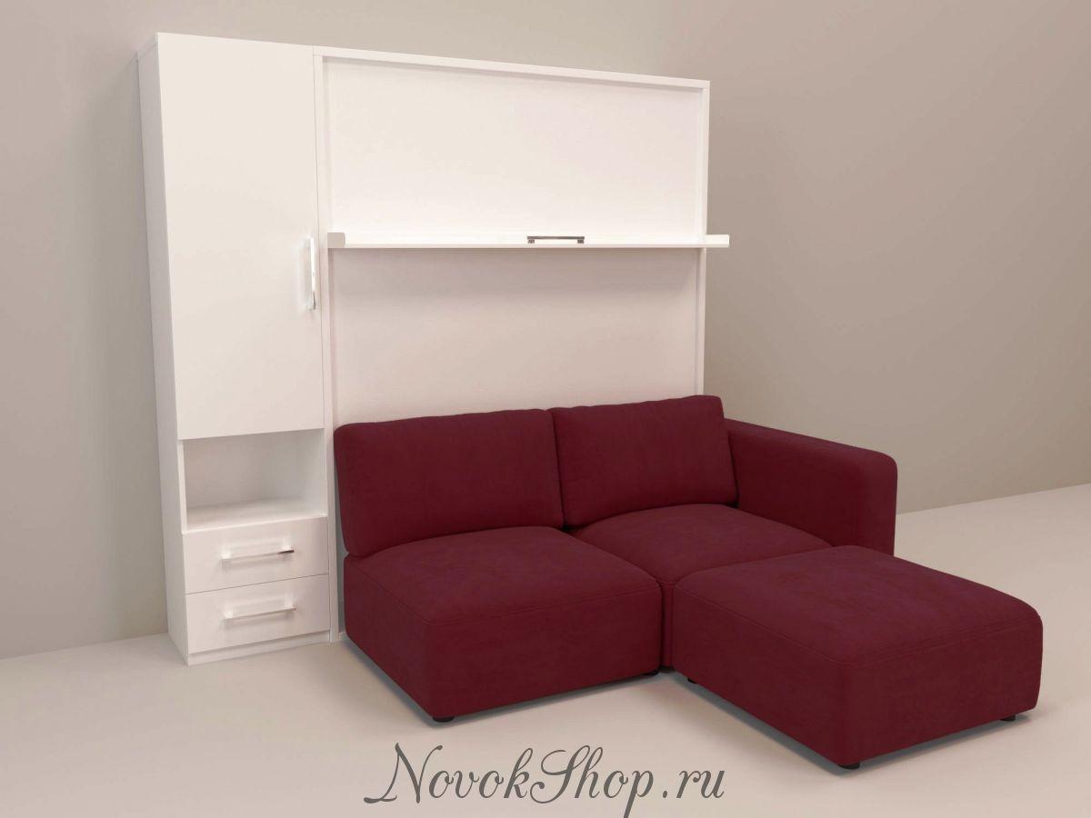 Шкаф-диван-кровать СМАРТ-1 +пенал+Пуф