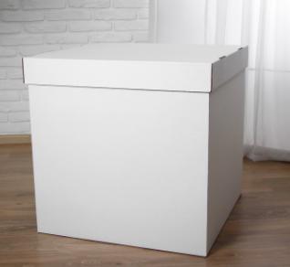 Коробка для запуска воздушных шаров, 60*60*60 см белая