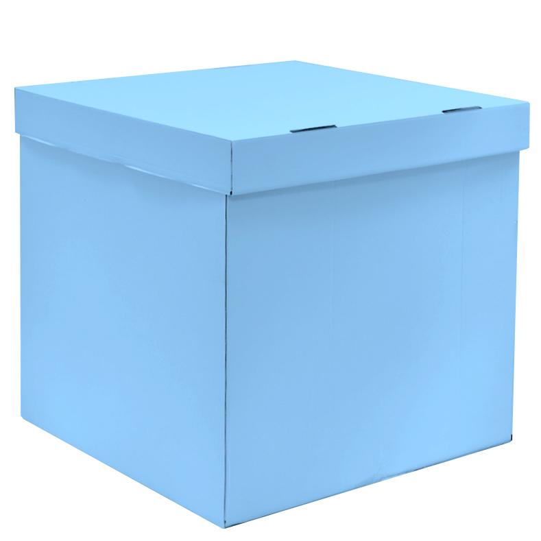 Коробка для воздушных шаров, Голубой, 60*60*60 см