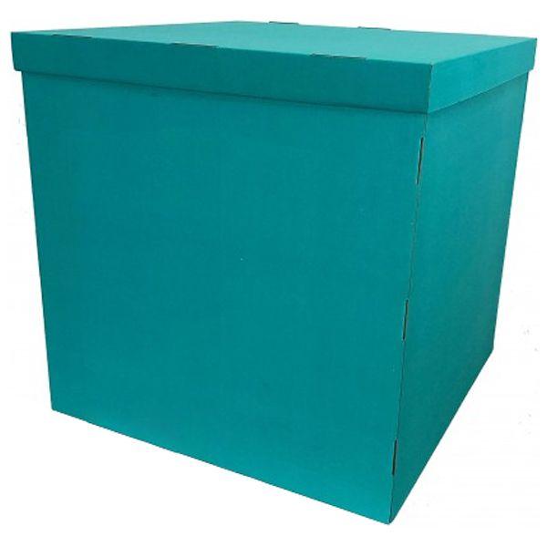 Коробка для запуска воздушных шаров, 60*60*60 см, цвет тиффани