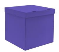 Коробка для запуска воздушных шаров, 60*60*60 см, цвет лиловый