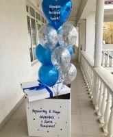 Коробка для воздушных шаров, Голубая С днем рождения Папочке