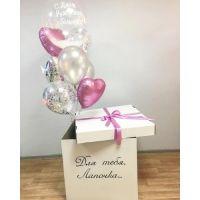 Коробка для воздушных шаров С днем рождения