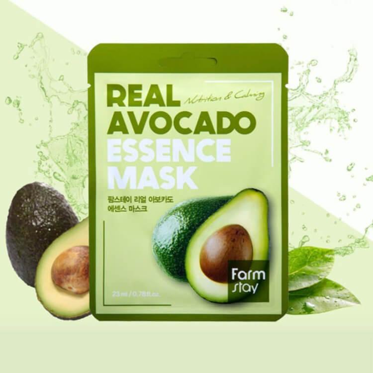 Тканевая маска для лица FarmStay с экстрактом авокадо Real Avocado Essence Mask, 30 мл