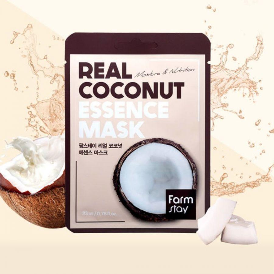 Тканевая маска для лица FarmStay с экстрактом кокоса Real Coconut Essence Mask, 30 мл