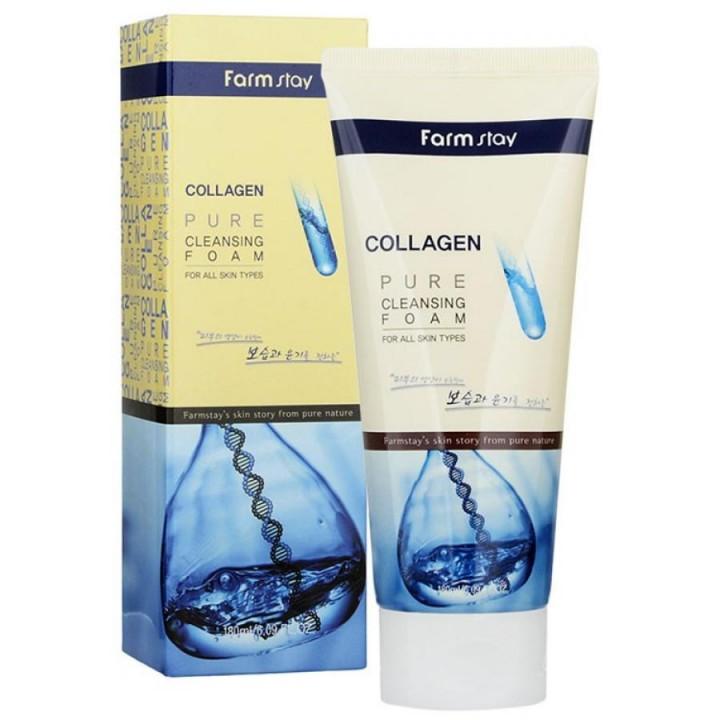 Пенка для умывания с коллагеном FarmStay Collagen Pure Cleansing Foam, 180мл