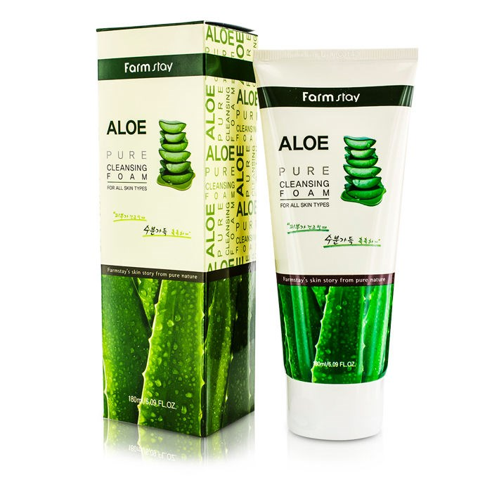 Пенка для умывания с экстрактом алоэ FarmStay Aloe Pure Cleansing Foam, 180мл