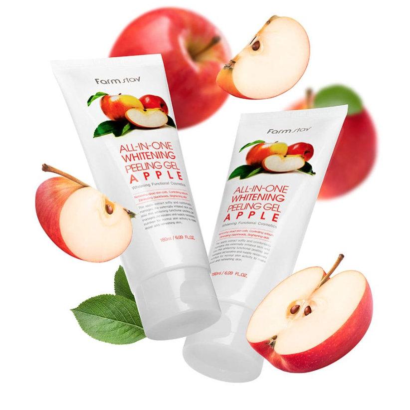 Пилинг гель с экстрактом яблока FarmStay All-In-One Whitening Peeling Gel Apple, 180мл