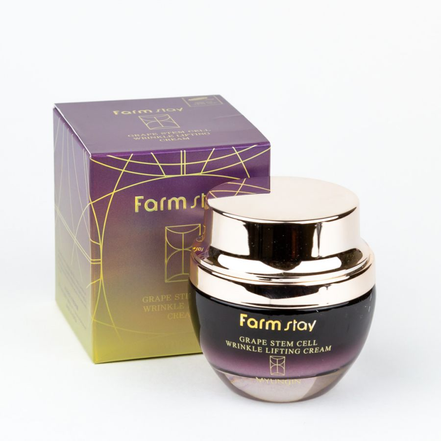 Крем-лифтинг для лица  со стволовыми клетками винограда FarmStay Grape Stem Cell Wrinkle Lifting Cream, 50 мл
