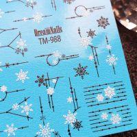 Слайдер-дизайн «Новый Год» TM - 988 Dream Nails (водные наклейки)