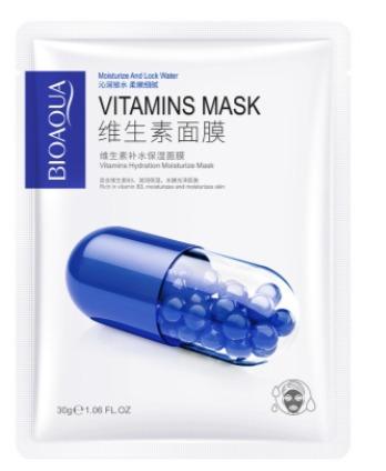 Мультивитаминная  маска «BIOAQUA» .(67376)