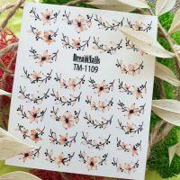 Слайдер-дизайн «Цветы» TM - 1109 Dream Nails (водные наклейки)