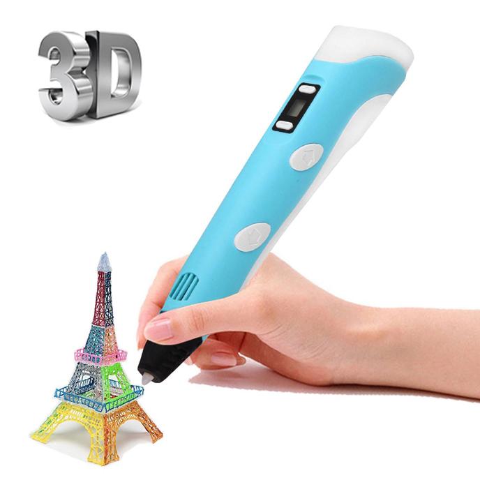 Помощник PM-TYP01 3D ручка Голубая
