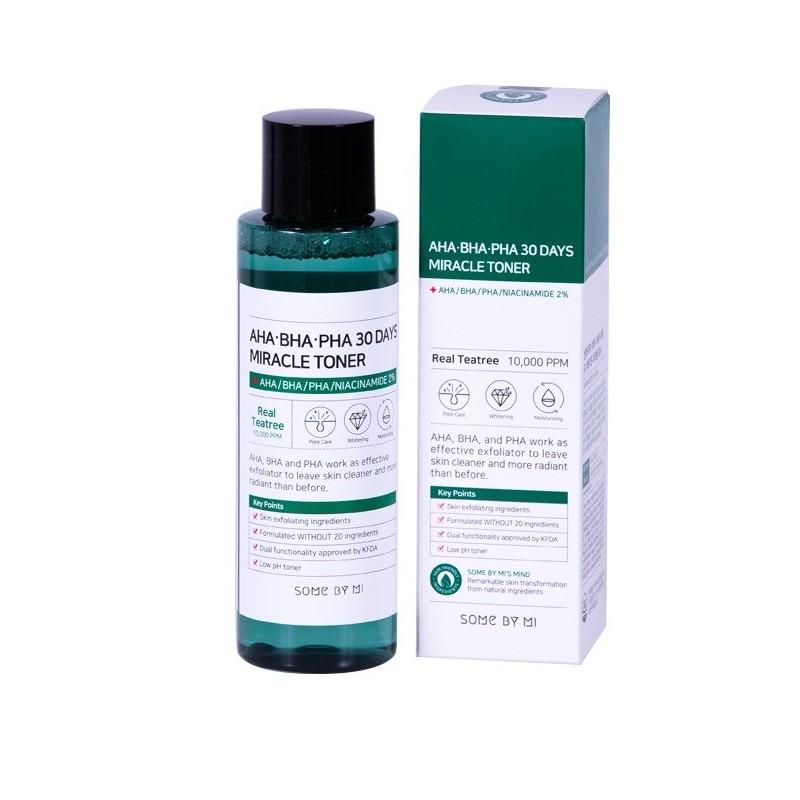 Очищающий тонер с AHA-BHA-PHA кислотами для проблемной кожи SOME BY MI AHA-BHA-PHA 30 DAYS MIRACLE TONER 150ml