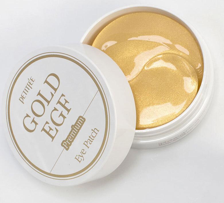 Гидрогелевые патчи для век с частицами золота и фактором роста EGF Petitfee Premium Gold & EGF Eye Patch 60pcs ХИТ