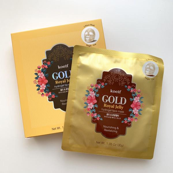 Гидрогелевая маска с золотом и маточным молочком KOELF Gold Royal Jelly Hydrogel Mask Pack 30g