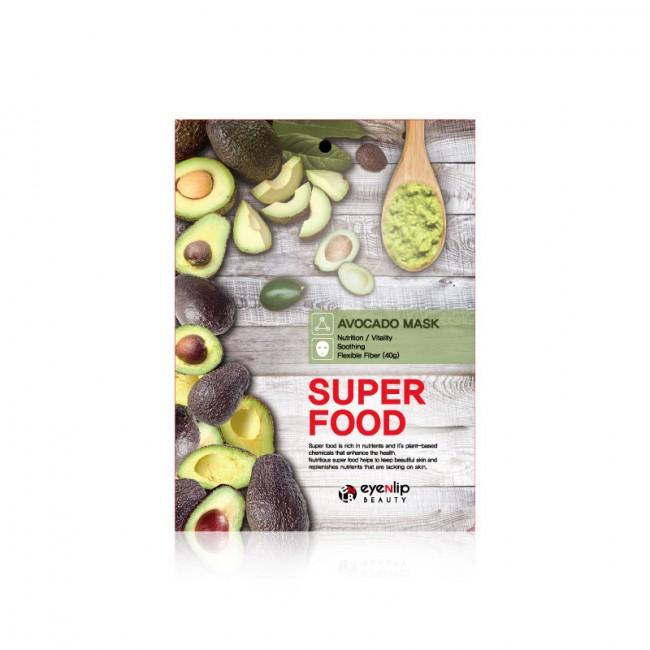 Тканевая маска с экстрактом авокадо Eyenlip Super Food Mask - Avocado
