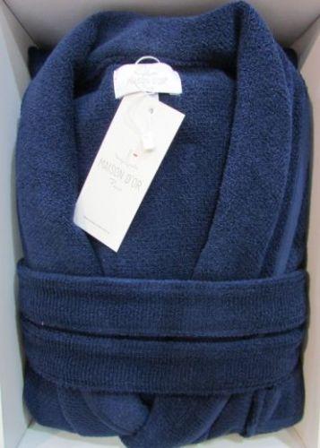 Мужской махровый халат Quattro синий