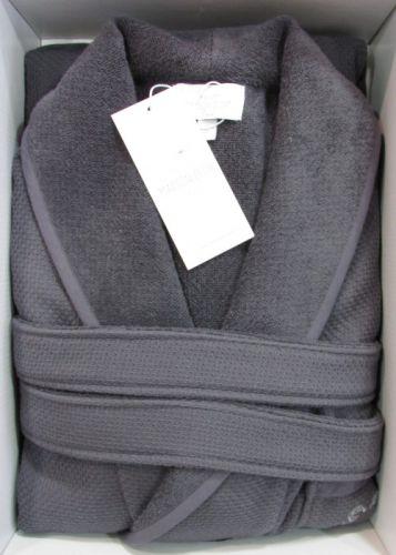 Мужской махровый халат Quattro серый