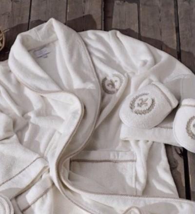 Мужской махровый халат Seymour белый