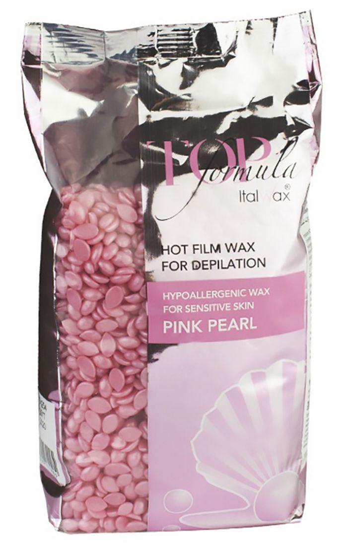 Воск горячий (пленочный) White line Top Formula Розовый жемчуг гранулы 750 гр.