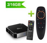 ТВ-приставка X96 mini 2/16Gb с пультом AIR mouse (гироскоп, микрофон)