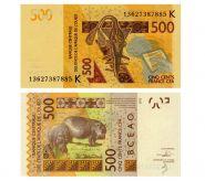 ТОГО - 500 франков 2014. UNC. ПРЕСС. Мультилот