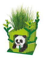Конструктор Wisehawk & LNO Панда с растением 545 деталей NO. 2592 Panda with plant Gift Series