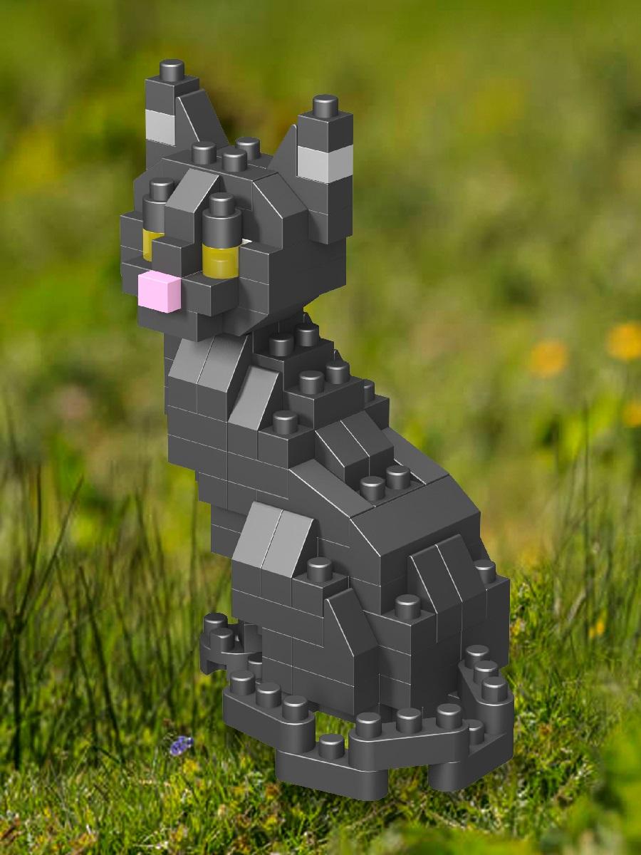 Конструктор Wisehawk & LNO Черный кот 117 деталей NO. B33 Black Cat Gift Series