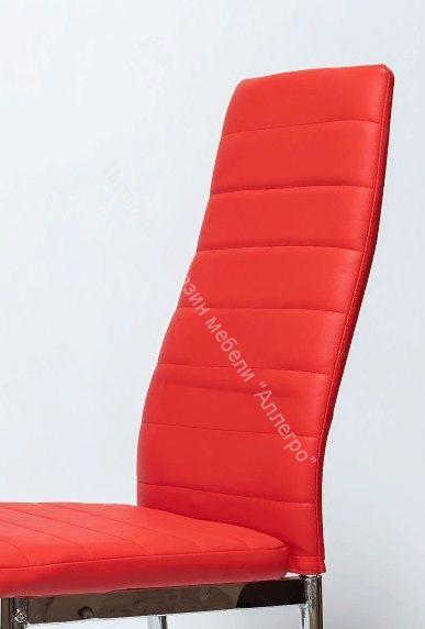 """Стул """"F-261-3""""  Красный кожзам/Хром"""