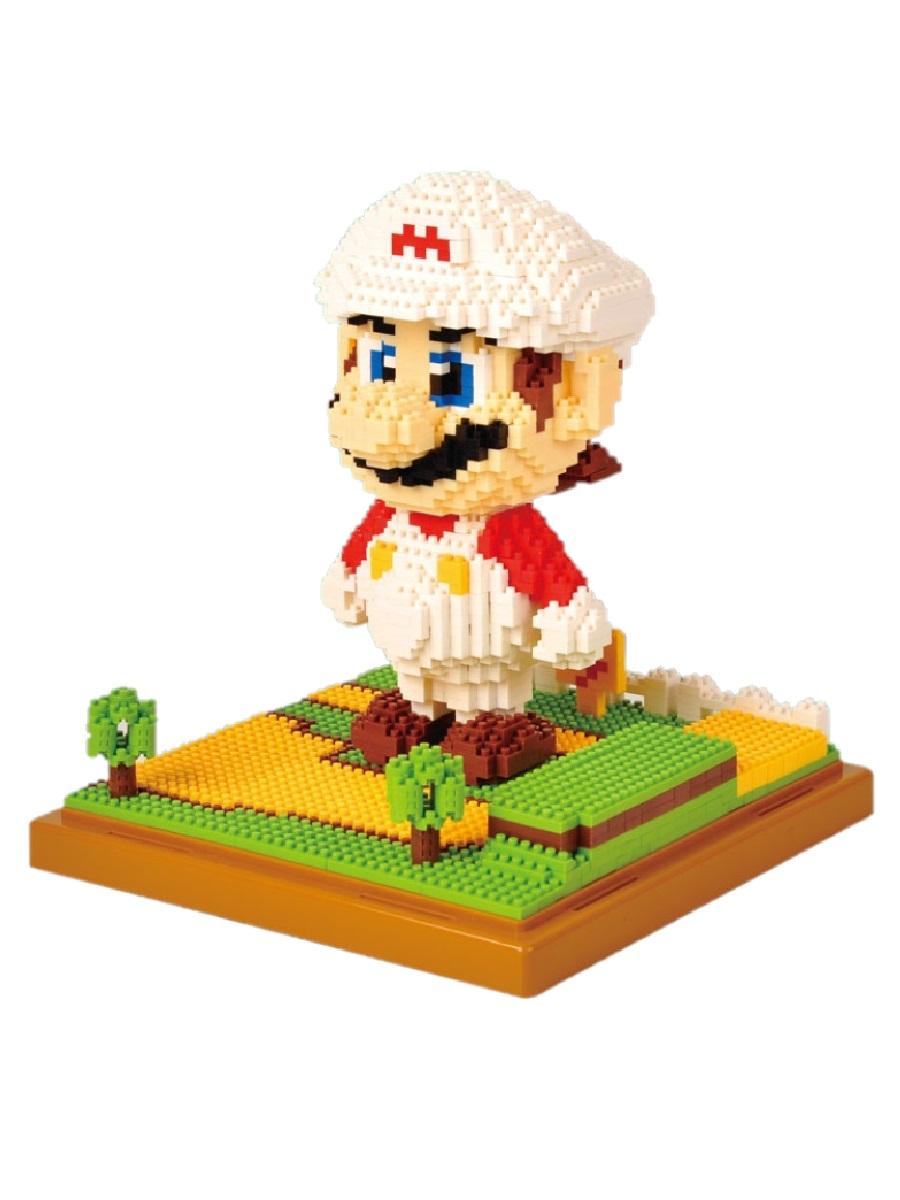 Конструктор Wisehawk & LNO Супер Марио Белый 1701 деталь NO. 159 Super Mario White Gift Series