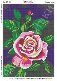 Фея Вышивки ВП-394 Нежная Роза схема для вышивки бисером купить оптом в магазине Золотая Игла