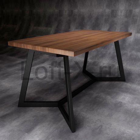 """Обеденный стол """"Shevy"""" с деревянной столешницей"""