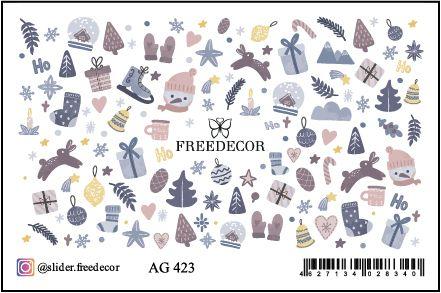 FREEDECOR Аэрография Слайдер дизайн Арт.AG-423